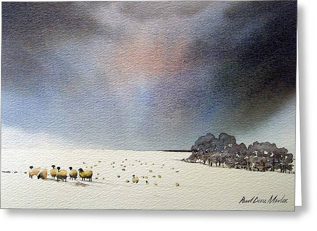 Snow Scene Landscape Greeting Cards - Winter Snow Swaledale Greeting Card by Paul Dene Marlor
