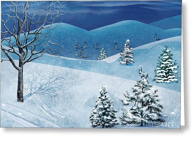 Winter Solstice Greeting Cards - Winter Solstice Greeting Card by Bedros Awak
