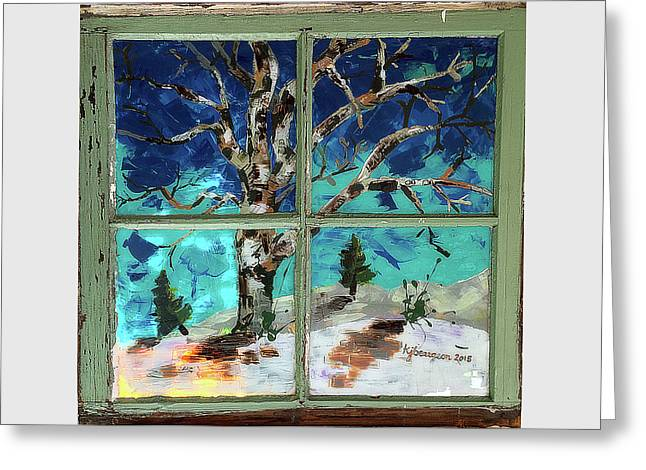 Winter Solstice Greeting Card by KJ Beargeon