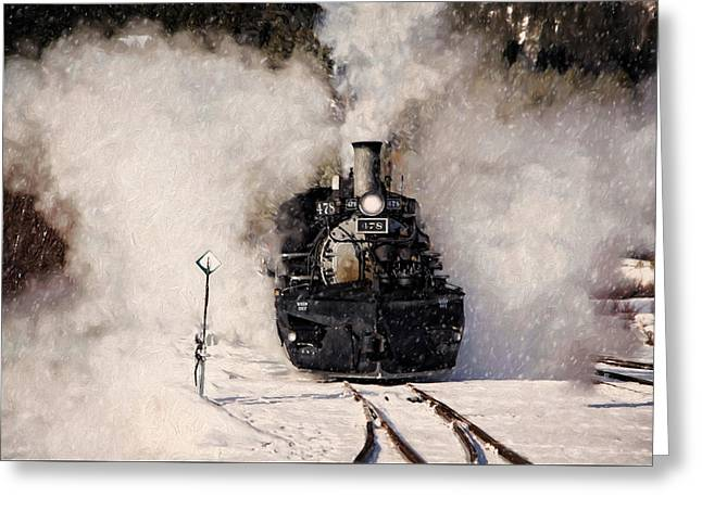 Winter Steam At Rockwood Colorado Greeting Card by Ken Smith