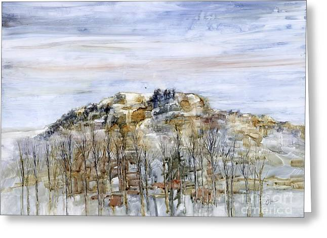Winter Storm Greeting Cards - Winter Stillness  Greeting Card by Joan Nee