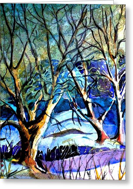 Winter Storm Greeting Card by Mindy Newman