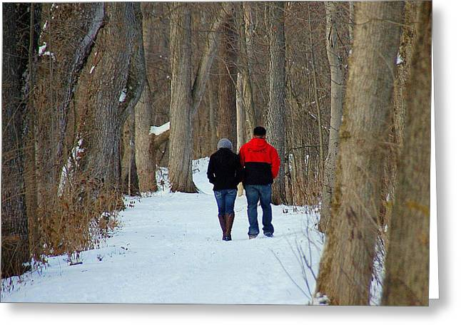 Winter Park Greeting Cards - Winter Stroll Greeting Card by Monica Lewis