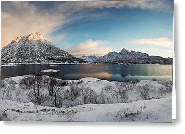Purity Greeting Cards - Winter Sunrise 360a? Greeting Card by Felix Inden