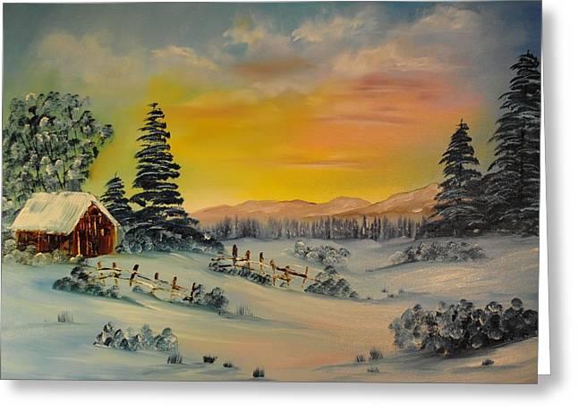 James Higgins Greeting Cards - Winter Sunrise Greeting Card by James Higgins