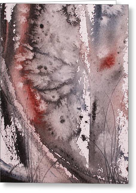 Winter Sunset Greeting Card by Keran Sunaski Gilmore