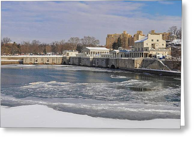 Winter Time At Fairmount Waterworks Greeting Card by Bill Cannon