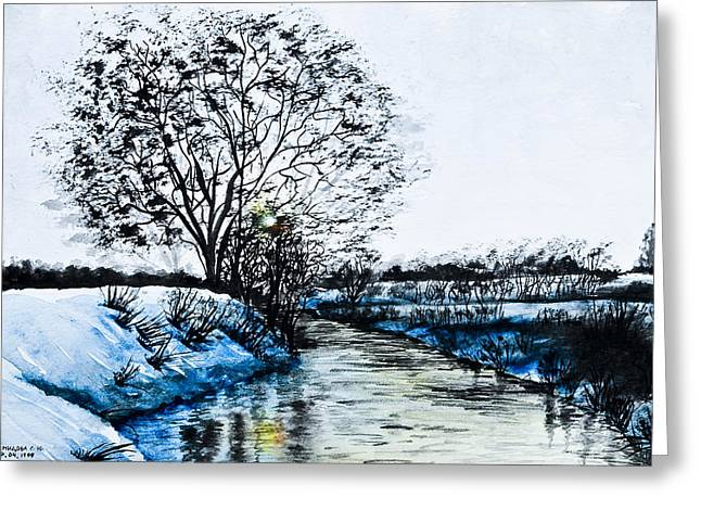 Winter Time Greeting Card by Svetlana Sewell