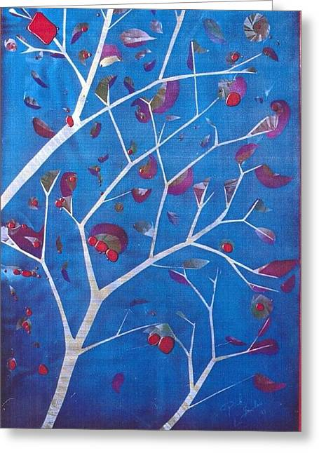 Canadian Glass Greeting Cards - Winter Tree Greeting Card by Rick Silas