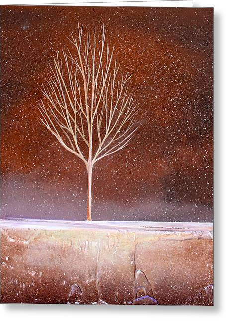 Winter Tree Greeting Card by Toni Grote