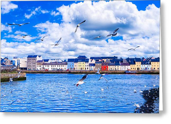 Galway Bay Greeting Cards - Winter View from the Claddagh in Galway Greeting Card by Mark E Tisdale