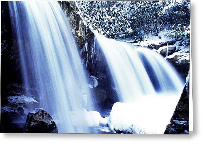 Winter Waterfall Greeting Card by Thomas R Fletcher