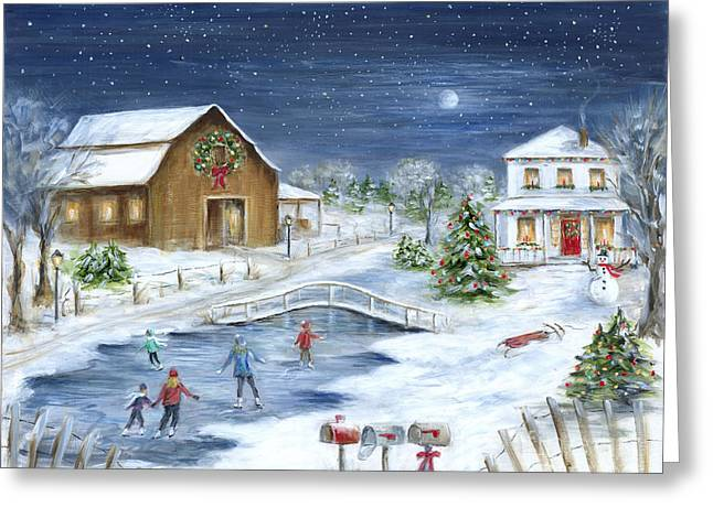 Sled.fence Greeting Cards - Winter Wonderland Greeting Card by Marilyn Dunlap