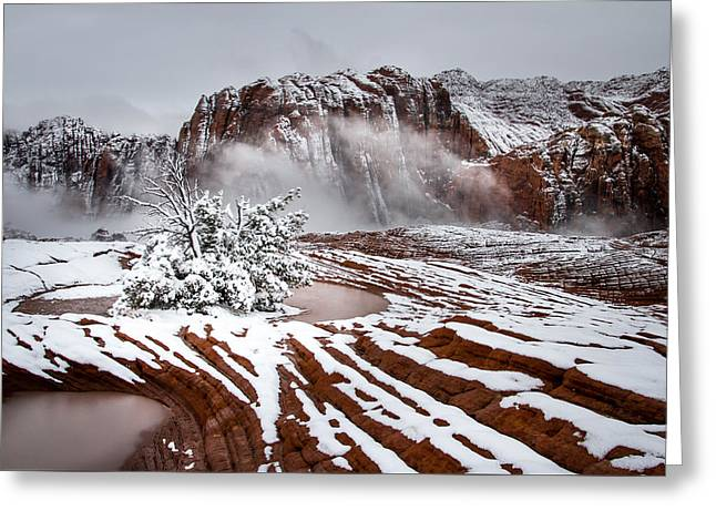 Southern Utah Greeting Cards - Winter wonderland Greeting Card by Ron Broad