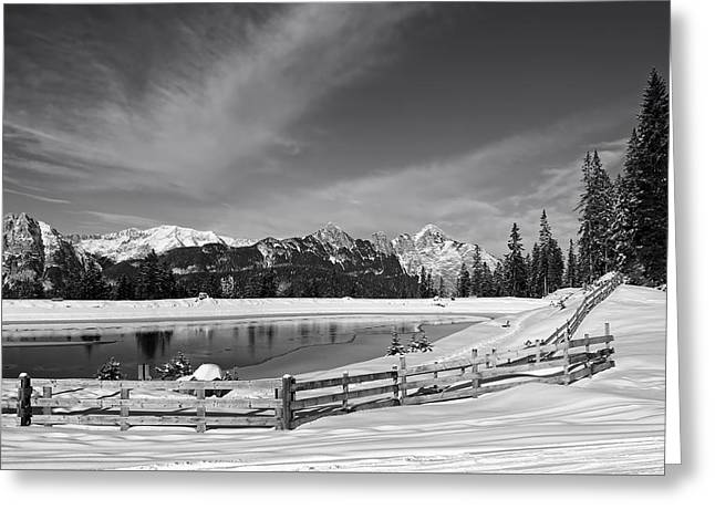 Snow-covered Landscape Greeting Cards - Winters Canvas Greeting Card by Melanie Schamboeck