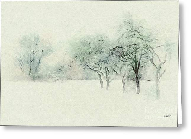 Winter Photos Greeting Cards - Winters Day Greeting Card by Jutta Maria Pusl