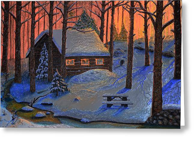 Usa Digital Art Greeting Cards - Winters Escape Ice Greeting Card by Ken Figurski