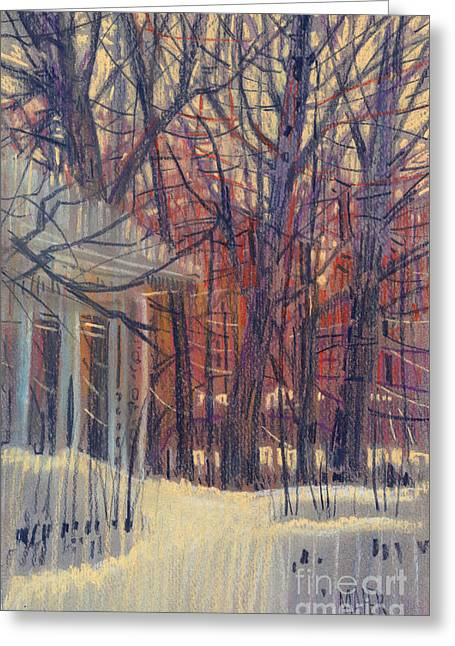 Winter Pastels Greeting Cards - Winters Snow Greeting Card by Donald Maier