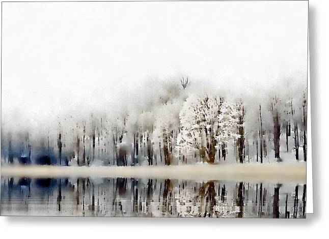 Snowy Day Greeting Cards - Winterscape  Greeting Card by Andrea Kollo