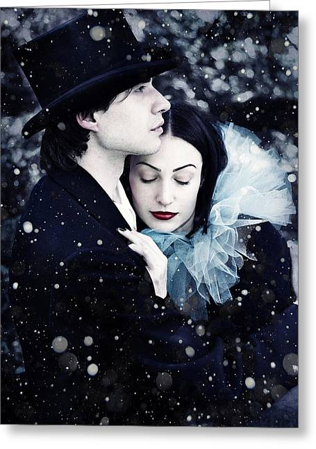 Black Hair Greeting Cards - Wintersoul Greeting Card by Wojciech Zwolinski