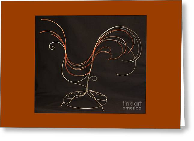 Wire Sculptures Greeting Cards - Wire #15 Greeting Card by D L Gerring