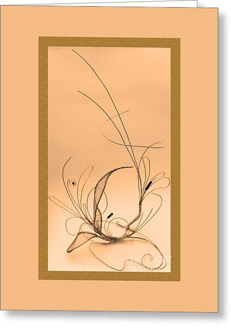 Wire Sculptures Greeting Cards - Wire #2 Greeting Card by D L Gerring