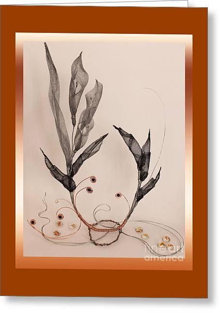 Wire Sculptures Greeting Cards - Wire #8 Greeting Card by D L Gerring