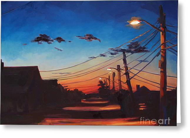 Cape Cod Mass Paintings Greeting Cards - Wired Greeting Card by Patricia A Griffin