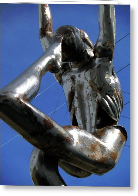 Dance Sculpture Greeting Cards - Wired Greeting Card by Robert Trauth