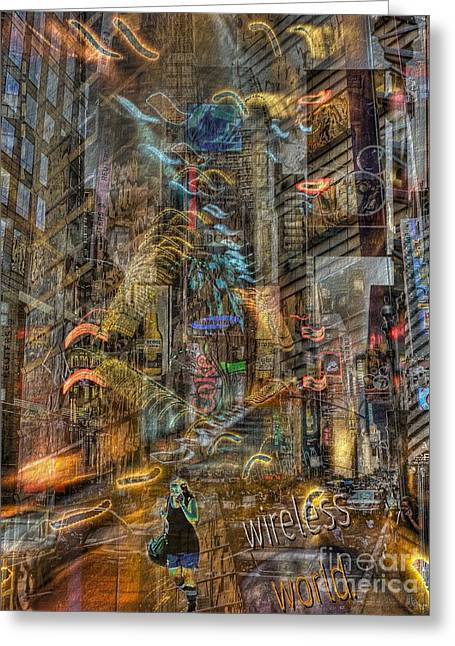 Wireless World Greeting Card by Jeff Breiman