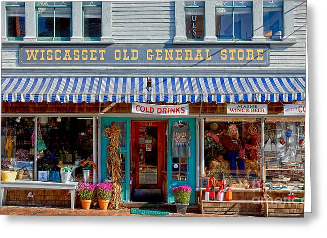 Country Store Greeting Cards - Wiscasset General Greeting Card by Susan Cole Kelly