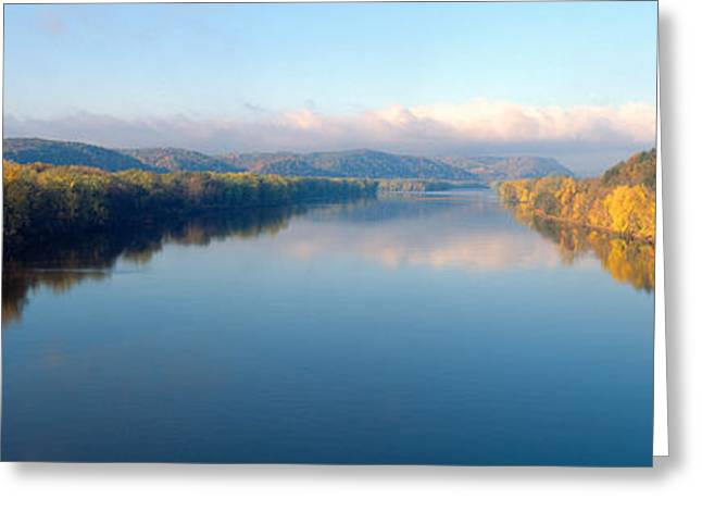 Wisconsin River And Prairie De Chen Greeting Card by Panoramic Images