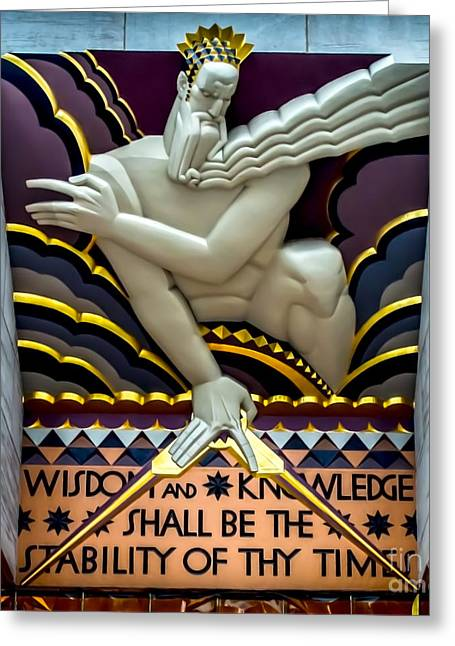 Greek Sculpture Greeting Cards - Wisdom and Knowledge Greeting Card by James Aiken