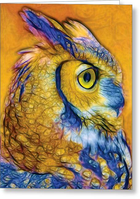 Wise Owl I Greeting Card by Nikola Durdevic