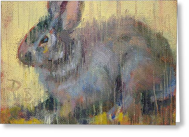 Wise Rabbit Greeting Card by Donna Shortt
