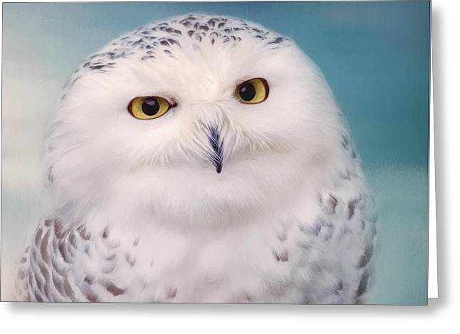 Wisest Of All - Owl Art Greeting Card by Jordan Blackstone