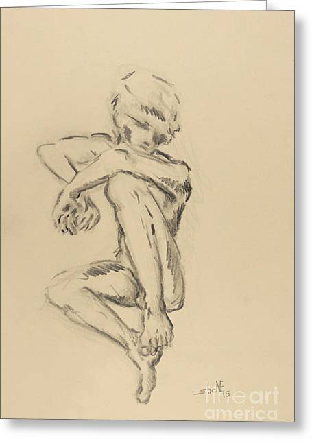 Homoerotic Drawings Greeting Cards - Wish Greeting Card by Shane Rodarte