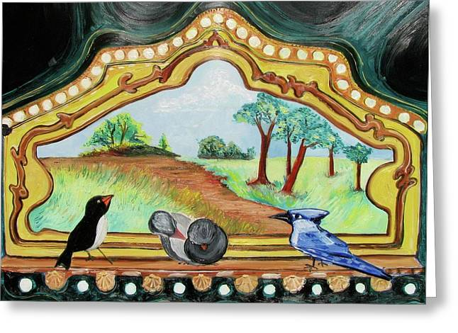 Amusements Drawings Greeting Cards - Wish We Were There Greeting Card by Patricia Arroyo