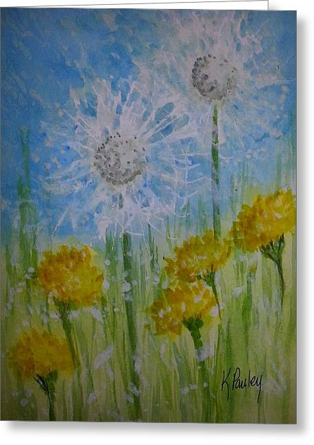 Wishes Greeting Cards - Wishes in the Wind Greeting Card by Kathie Sullivan Pauley