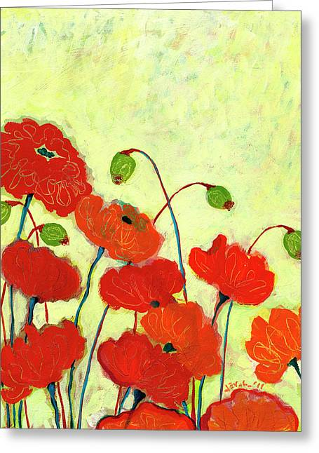 Wishful Blooming Greeting Card by Jennifer Lommers