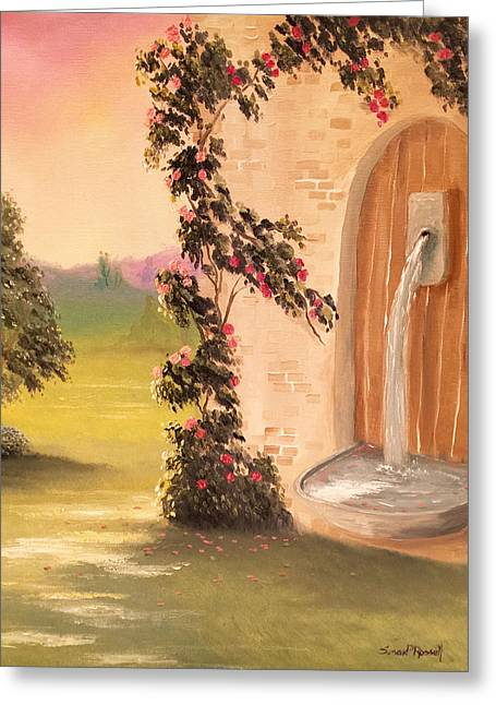 Wishes Greeting Cards - Wishing Fountain  Greeting Card by Susan  Rossell