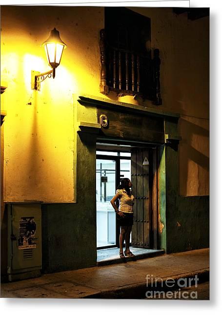Senorita Greeting Cards - Wishing in Cartagena Greeting Card by John Rizzuto