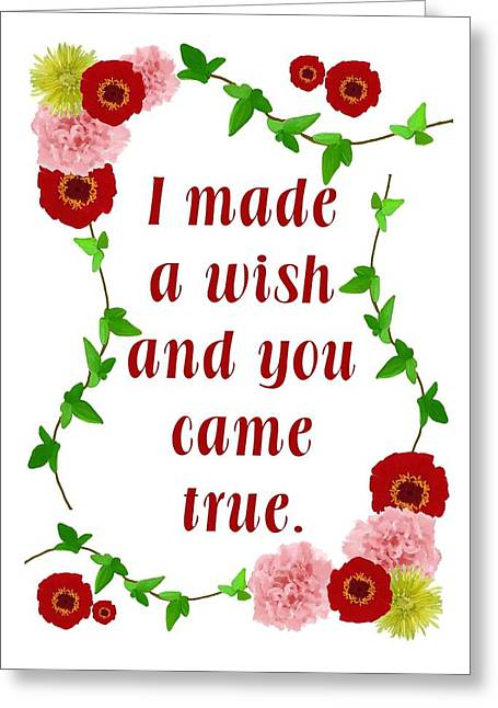 Wishes Greeting Cards - Wishing Greeting Card by Priscilla Wolfe