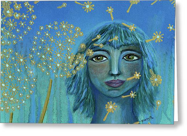 Wishing The Blues Away Greeting Card by Donna Blackhall