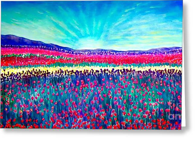As Far As The Eye Can See Greeting Cards - Wishing You the Sunshine of Tomorrow Greeting Card by Kimberlee  Baxter