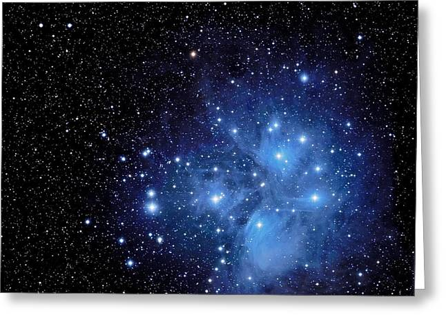 Pleiades Greeting Cards - Wisps of Merope Greeting Card by Jim DeLillo