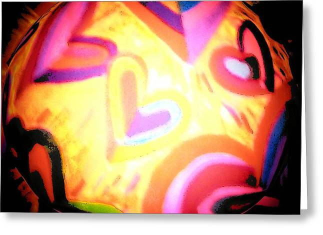 Abstract Digital Drawings Greeting Cards - Witches Ball Greeting Card by Brenda Adams