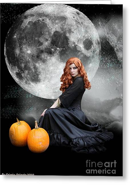 Holloween Greeting Cards - Witching Hour  Greeting Card by Crispin  Delgado