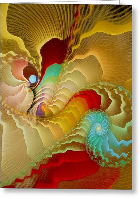 Graphic Digital Art Pastels Greeting Cards - With a Gentle Breath Greeting Card by Gayle Odsather