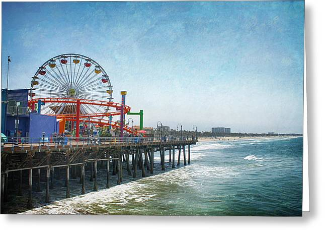 Pier Digital Greeting Cards - With a Smile On My Face Greeting Card by Laurie Search